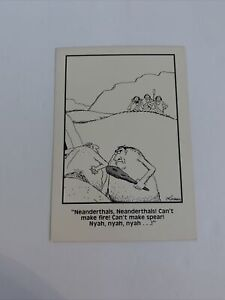 "The Far Side Gary Larson Postcard Neanderthals Nyah Vintage Comic 1983 4"" x 6"""