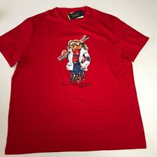 Polo Ralph Lauren Bear Logo XXL SKI BEAR T-Shirt Tee Special Edition Red