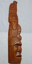 Original Hand Carved Squamish Nation Cedar Wood Face Eagle Signed Darren Yelton