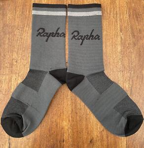 RAPHA Socks Road Grey/black CYCLING SOCKS UK SIZE 41-44 Road Racing TT bike