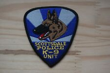 Y22 écusson insigne patch Dog K-9 Cyno chien SCOTTSDALE POLICE K-9 UNIT