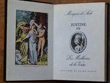 D.A.F de SADE - Justine ou les malheurs de la vertu- Ed Saint Clair, 1974