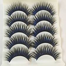 5 Pairs False Fake Eyelashes Black Blue Thick Cross Long Eye Lashes Extension