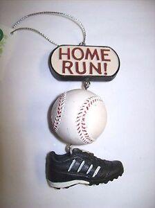 """Home Run!"" Baseball and Shoe Ornament"