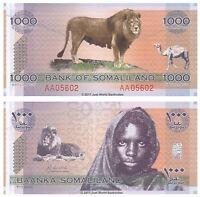 Somaliland 1000 Shillings 2006 P-CS1 1st Prefix 'AA' Banknotes UNC