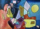 Paul Klee Dramatic Landscape Repro. Quality Hand Painted Oil Painting 30x40in
