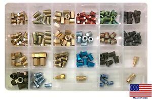 158 Piece Brake & Fuel Line Adapters Tube Nut Union Fitting Assortment Kit