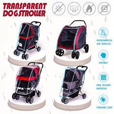 Outdoor Pet Cart Dog Cat Carrier Stroller Transparent Cover Stroller Rain Cover