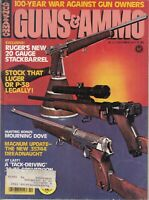 Vintage  Guns and Ammo Oct 1977 Magazine -  Ruger Luger