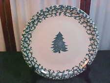 Beautiful Tienshan Folk Craft Holiday Pines Stoneware Chop Plate/Serving Platter