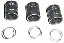 Kawasaki H1 A7 F2 F2Tr F3 F21M 3pcs Piston Bearings + 6pcs Clips! 92046-1038