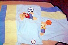 "Kidsline Go Team Baby Nursery Window Valances Set of 2 Bears Sports Blue 58"""