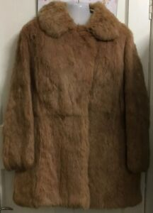 JENNERS VINTAGE FAWN BEIGE CONEY REAL FUR COAT JACKET