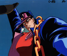 Jojo's Bizarre Adventure Anime Cel Douga Animation Art Jotaro Holding Iggy 1993