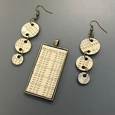 SteamTronix - IBM 80 Column Punch Card Dangle Earrings and Pendant