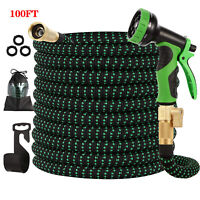 Expandable Garden Hose 100ft Upgraded,Flexible Lightweight Water Hose with 9 Way