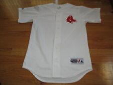 Majestic BOSTON RED SOX Socks Button-Down (SM) Mesh Jersey WHITE