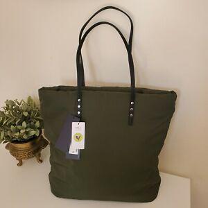 Marks & Spencer Canvas padded Shopper Shoulder Bag Green Large Tote