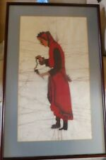 BATIK PICTURE PAINTING OF A LADY LARGE