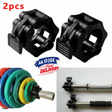 Weight Lifting Bar Collars Home Gym Standard 25mm Barbell Lock Clamp Collar OF