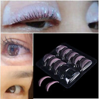 10Pcs New Eyelash Lift Perming Silicone Curler Pads Shield Rods Embedded Ridges