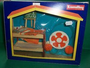 VINTAGE 1970's LUNDBY DOLLS HOUSE BUNK BEDS KIDS FURNITURE SET BOXED