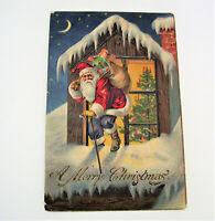 Vintage Embossed Santa Christmas  Postcard JPCN & Co Early 1900s Undivided Back