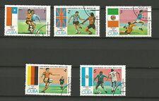 COUPE DU MONDE DE FOOTBALL MEXICO 86 Cub. 5 timbres oblitérés /T242