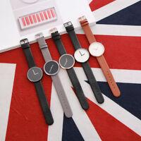 Minimalistic Watch Stylish Quartz Vintage Genuine Leather Strap Casual Men/Women