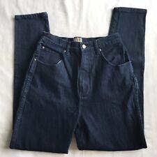 Stefano International Womens Straight Leg Mom Jeans Size 12 Dark Wash High Waist
