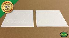 SAVE $5 on 1 PAIR! Kuwahara SCRIPT BMX 1985+ Handlebar/Seat Post Decal (White)