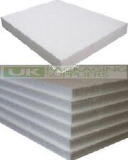 5 WHITE POLYSTYRENE FOAM SHEETS EPS70 SIZE 600 x 400 x 25mm SDN INSULATION