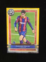 2020-21 Topps Museum UEFA CL Francisco Trincao GOLD PARALLEL #38 SSP RC #/50 BAR