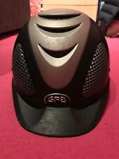 GPA Speed Air riding helmet - Navy and Silver. 59 GPA (58cm)