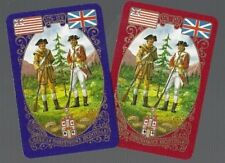 WORSHIPFUL1975 PLAYING CARDS 2x  SINGLE CARDS AMERICAN  INDEPENDENCE BICENTENARY