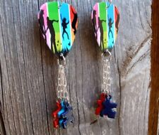 Colorful Family Guitar Picks with Puzzle Piece Dangles - Autism Awareness