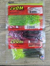 """New listing 3 Packages - Zoom 6"""" U-Tale Worms Super Salt 20 Count Bass Fishing Worms U-Tail"""