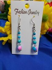 Acrylic Stainless Steel Handcrafted Earrings