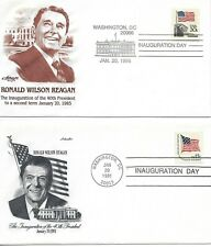 Ronald Regan 1/20/1985 Inauguration Day FDC Artmaster non-addressed (two Covers)