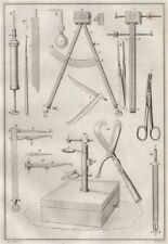SCIENTIFIC INSTRUMENTS. instrumens d'Histoire naturelle I 1834 old print