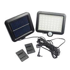 Panel Solar 56-LED IR Sensor De Movimiento Foco Potente Porche Seguridad