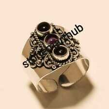 Handmade Ring Stylish Ring Jewelry Amethyst 925 Silver Overlay Ring