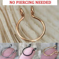 Stainless Steel Fake Septum Clip On Non Piercing Swirls Septum Nose Ring Jewelry