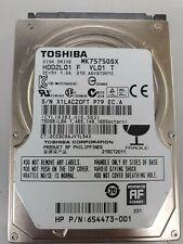 "Toshiba 750GB Internal 5400RPM 2.5"" (MK7575GSX) HDD2L01 F VL01 HDD"