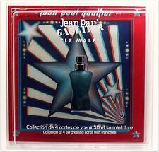 JEAN PAUL GAULTIER LE MALE EAU DE TOILETTE 3.5 ML. 0.11 FL.OZ. CHRISTMAS CARDS