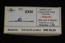 HP Models  German Navy  4x  U-Boot Typ XXIII 1. Baureihe -1944/45-  1:700