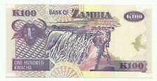 100 one Hundred Kwacha van Zambia ,Nieuw ,,zie foto's ,,Nr 3447 ,,
