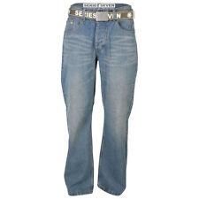Jeans da uomo bootcut medio blu
