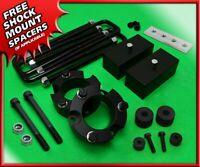 "For 95-04 Toyota Tacoma Full 3"" F + R Blk Billet Lift Kit 6-Lug 4WD + Diff Drop"