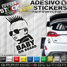 Adesivo Sticker Pegatinas Decal BABY ON BOARD ROCK STAR CAR TUNING COOL JDM